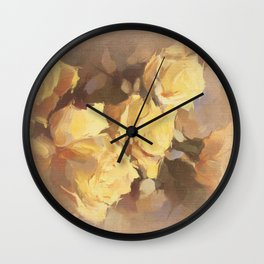 Vicorian Roses Neck Gator White Rose Painting Wall Clock