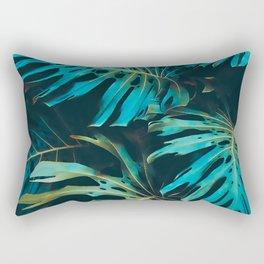Night Tropic Turq Rectangular Pillow
