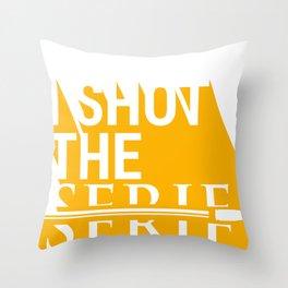 Shot the Serif Throw Pillow