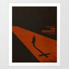 The Exorcist Inspired Vintage Movie Poster Art Print