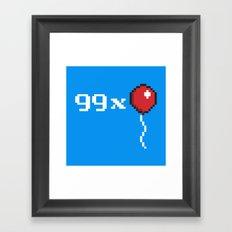 99 Extra Framed Art Print