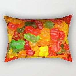 red orange yellow colorful gummy bear Rectangular Pillow
