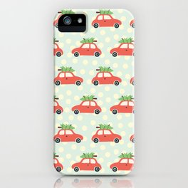 Christmas Tree Cars Red iPhone Case