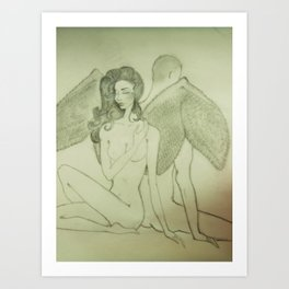 Love`s Angel Wings Art Print