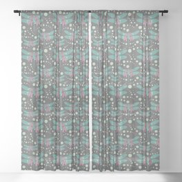 dragonflies with grey pattern 4 Sheer Curtain
