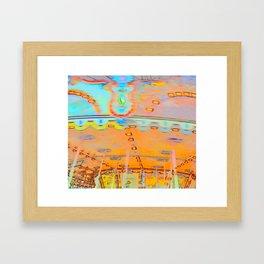 Merry-go-round in orange Framed Art Print