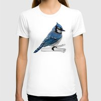 jay fleck T-shirts featuring Blue Jay by Ben Geiger