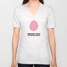 Dreams taste like cotton candy. Unisex V-Neck