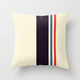 Classic Minimal Racing Car Retro Stripes - Furaribi Throw Pillow