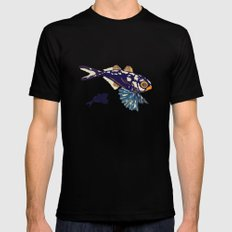Ocean Fish Mens Fitted Tee Black MEDIUM