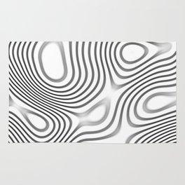 Organic Abstract 01 WHITE Rug