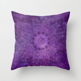 star mandala deep in the dark purple dream Throw Pillow