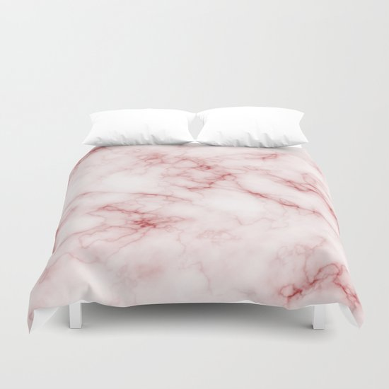 Red Pink Marble Duvet Cover By Criss Society6