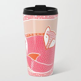 Sleepy Happy Foxes Travel Mug