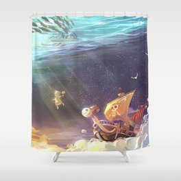 Ship of Pirates Shower Curtain