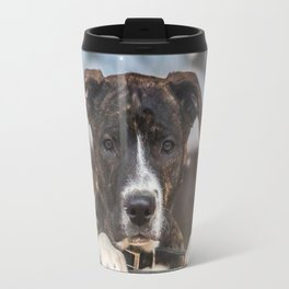 Cute Mastiff Rottweiler Mix  Puppy Travel Mug