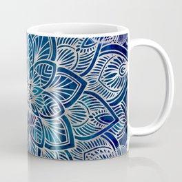 Pearl Mandala on Navy Blue Coffee Mug
