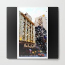 Beautiful Brisbane City - Edward Street Art Deco Building - Digital Painting Metal Print