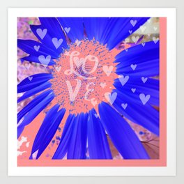 Pink Hearts Forever Art Print
