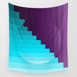 Ups and Down   Deep Within   Purple   Blue   Turquoise Wall Tapestry