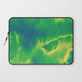Watercolor texture - green and blue Laptop Sleeve
