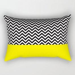 Black & Yellow Rectangular Pillow