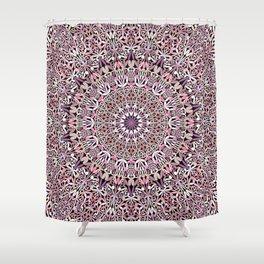 Pink Spiritual Garden Mandala Shower Curtain