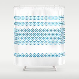 SUMMER BLUE Shower Curtain