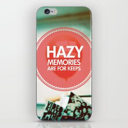 Hazy Memories Are For Keeps iPhone Skin