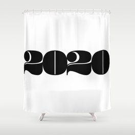 2020 Year | Typography | Horizontal Shower Curtain