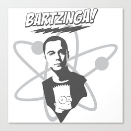 sheldon cooper and bart simpson: big bang theory art 2 Canvas Print