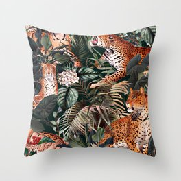 Dangers in the Forest XIII Throw Pillow