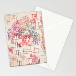 Peoria map Arizona painting Stationery Cards
