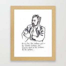 Charlie Day Framed Art Print