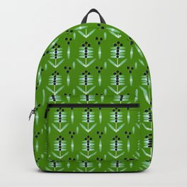 Berries Black Pattern - by Matilda Lorentsson Backpack