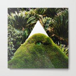 Arcana Academy - green triangle Metal Print