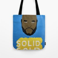 solid Tote Bags featuring Solid Gold by Chase Kunz