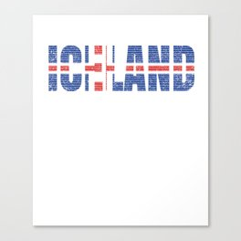 Iceland Flag Vintage National Icelandic Country Gift Canvas Print