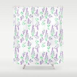 Purple Delphinium Shower Curtain