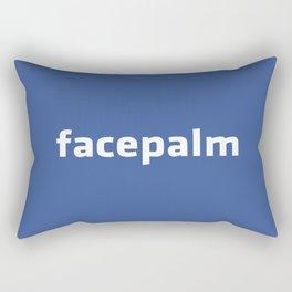 Facepalm Rectangular Pillow