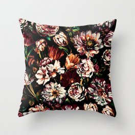 Dark Garden II Throw Pillow