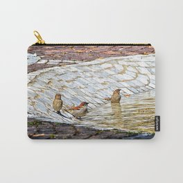 birds bath in the sun Carry-All Pouch