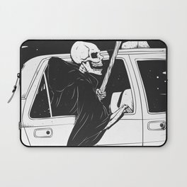 Passenger taxi grim - black and white - gothic reaper Laptop Sleeve