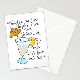 Teachers are cool , education poetry Stationery Cards