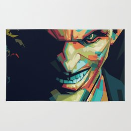 Joker Pop Art Portrait Rug
