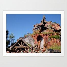MAGIC KINGDOM: Splash Mountain Art Print