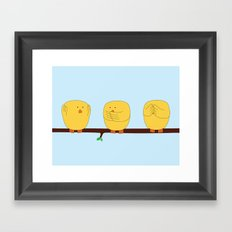 See no evil, Hear no evil, Speak no evil Framed Art Print