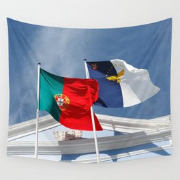 Portugal and Azores flags Wall Tapestry