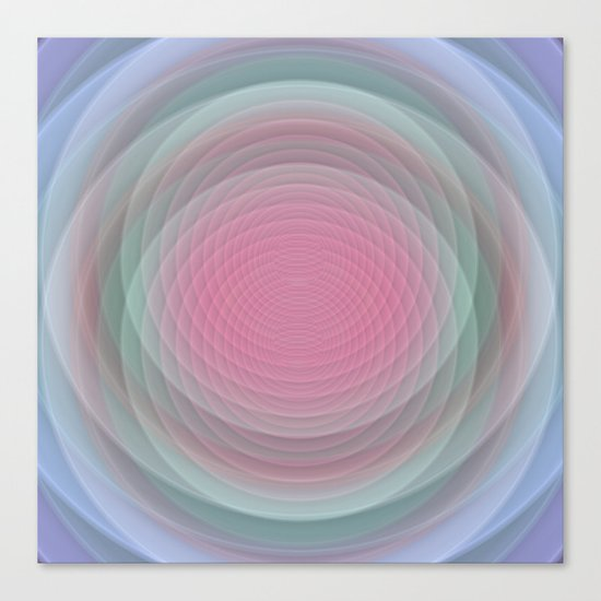 Patterns, Pastels and Motion Abstract Canvas Print