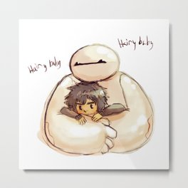 Big Hero 6 Hiro and Baymax Metal Print